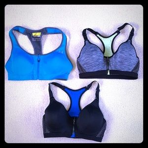 Lot of 3 sports bras 1 Under Armour 2 Maidenform